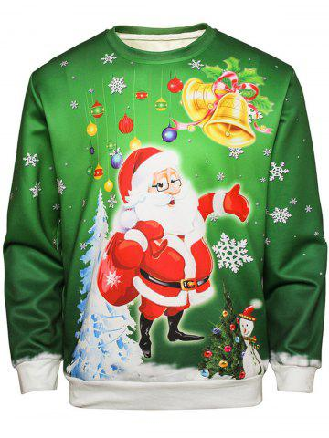 Outfit Christmas Santa Bell Pullover Sweatshirt
