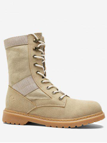 Ankle Lace Up Fold Over Boots