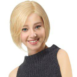 Side Parting Short Straight Bob cheveux humains perruque avant en dentelle -