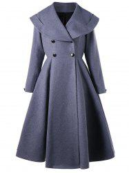 Double Breasted Fit and Flare Coat -