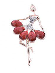 Sparkly Faux Gem Rhinestoned Fairy Brooch -