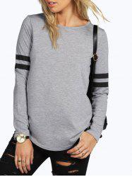Round Neck T-shirt with Sleeves -