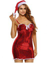 Sequined Bodycon Cami Christmas Costume -