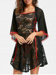 Robe Lace See By Lingerie -