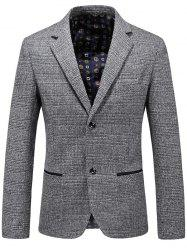 Casual Lapel Single Breasted Plaid Blazer - GRAY 2XL