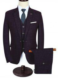 One Button Modern Fit Three-piece Business Suit -