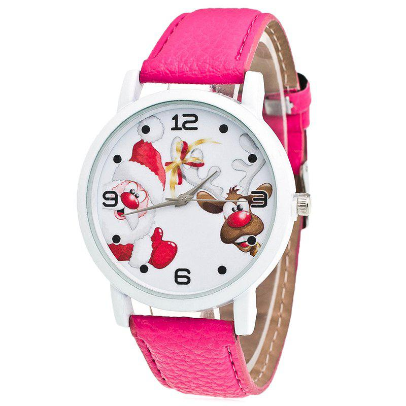 Fancy Christmas Santa Deer Face Quartz Watch