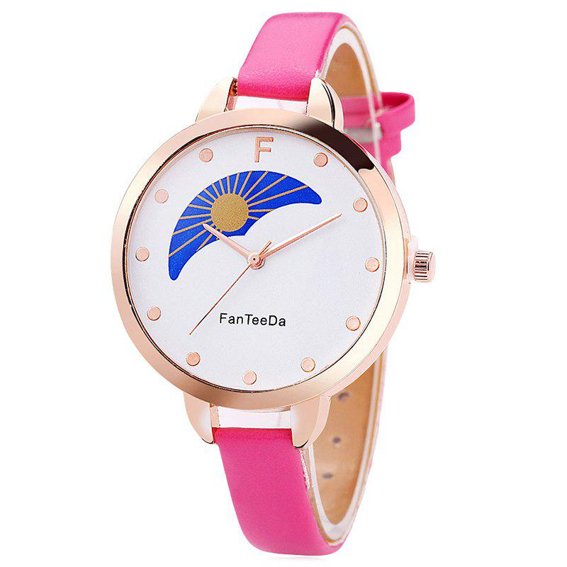 Hot Faux Leather Strap F Letter Analog Watch
