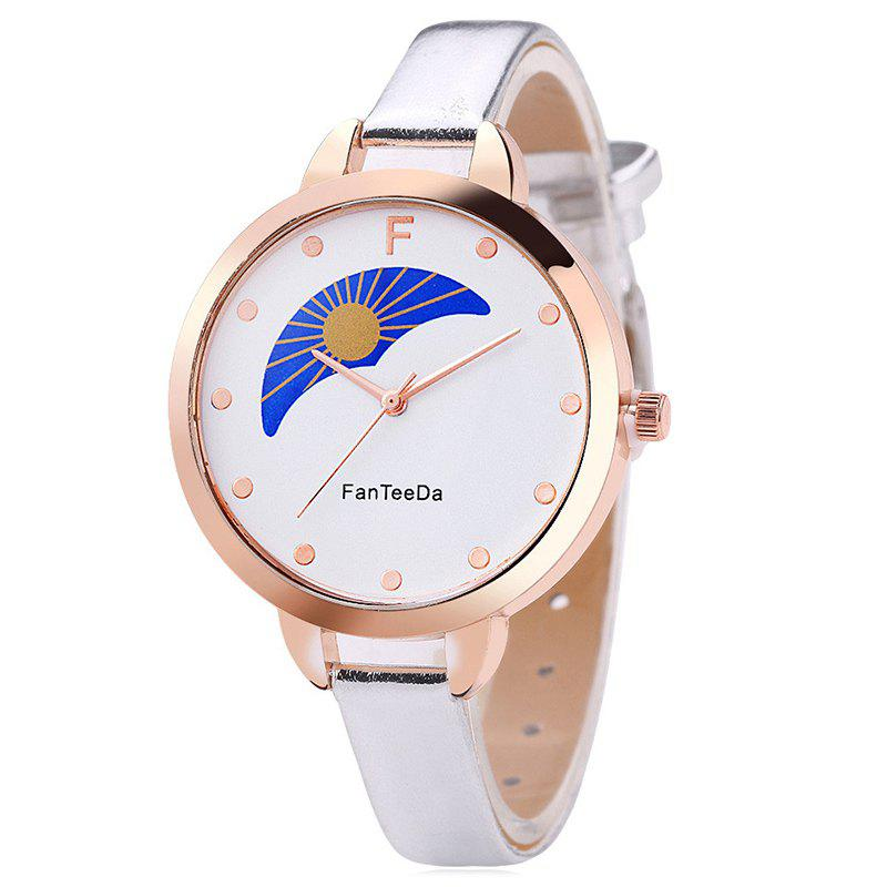 Discount Faux Leather Strap F Letter Analog Watch
