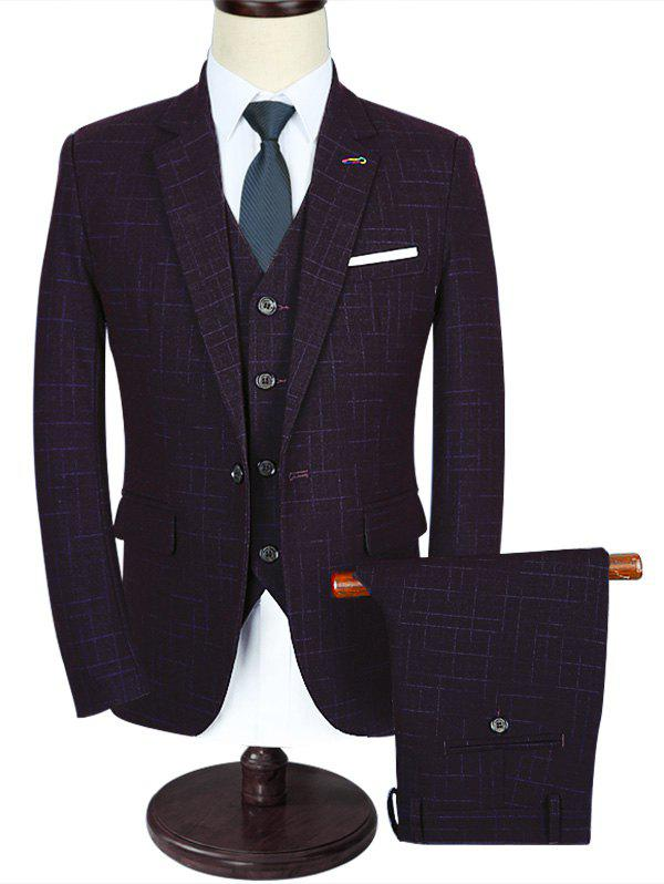 Online One Button Modern Fit Three-piece Business Suit