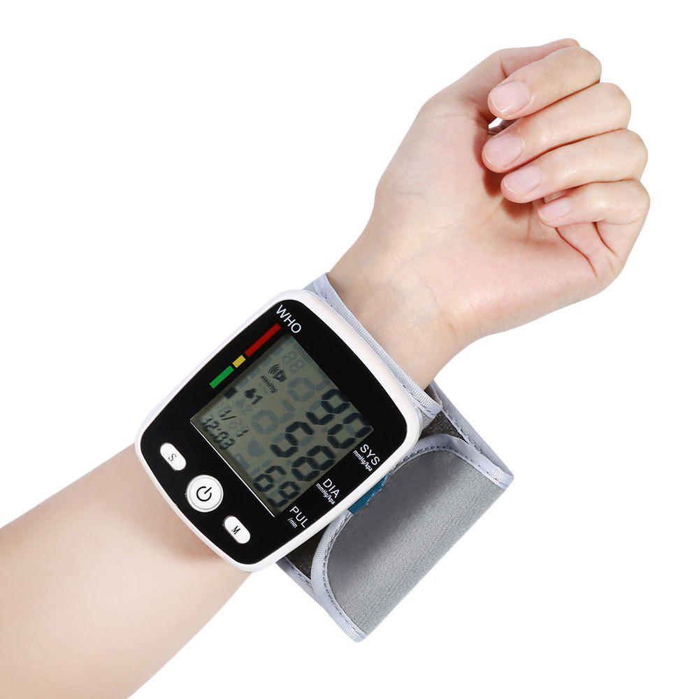 Digital Automatical USB Wrist Blood Pressure MonitorHOME<br><br>Color: WHITE; Products Type: Sphygmomanometer; Style: Modern/Contemporary; Material: Plastic; Package Contents: 1 x Wrist Blood Pressure Monitor;