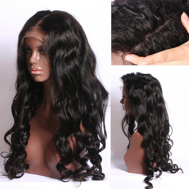 Unique Long Free Part Fluffy Body Wave Synthetic Lace Front Wig