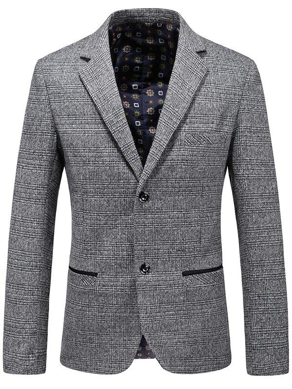 Trendy Casual Lapel Single Breasted Plaid Blazer