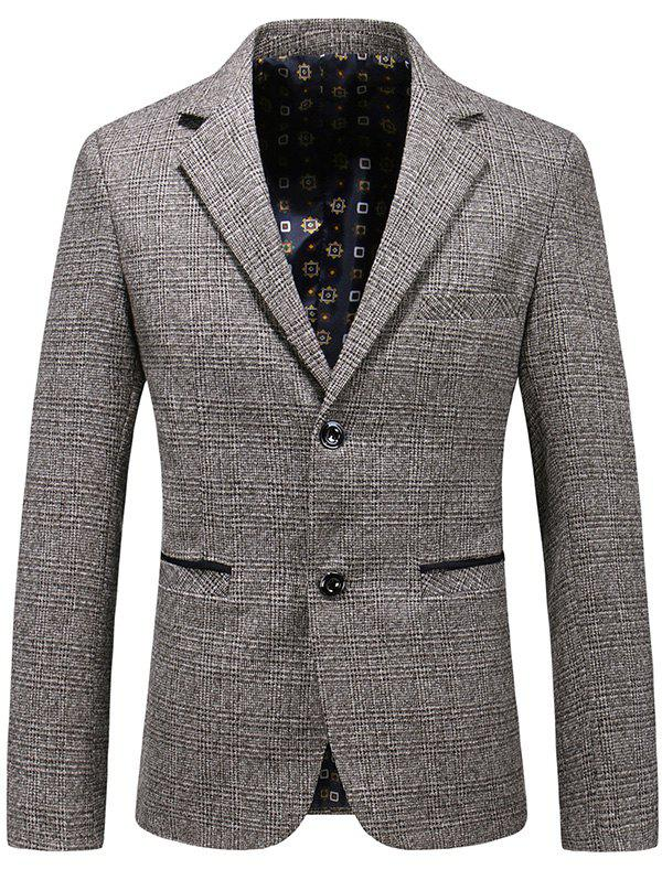 Affordable Casual Lapel Single Breasted Plaid Blazer
