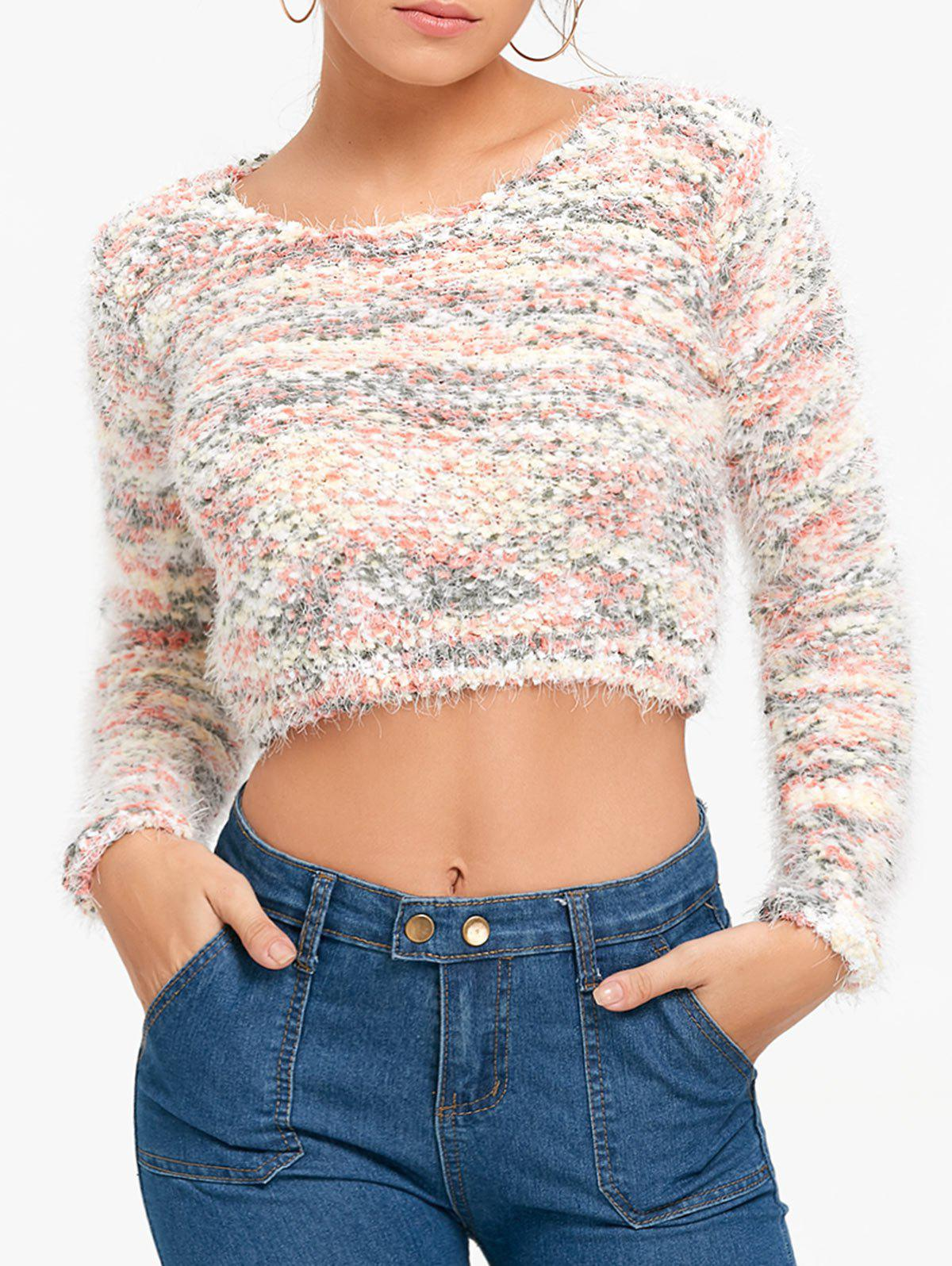 Sale Motley Fuzzy Cropped Sweater
