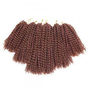 3Pcs Short Afro Kinky Curly Mali Bob Twist Braids Cheveux Synthétiques Tisser -