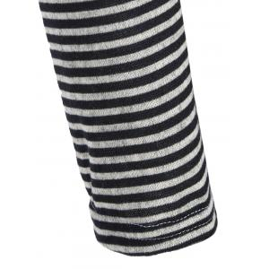 Plus Size Asymmetrical Striped Geometric Jacquard Knitwear -