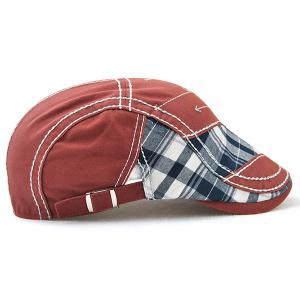 Retro Patchwork Pattern Embroidery Newsboy Hat -