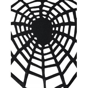 Halloween Plus Size Openwork Spider Tunic Top -