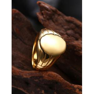 Engraved Claw Oval Finger Ring - GOLDEN 7