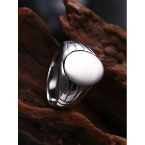 Engraved Claw Oval Finger Ring - SILVER 10