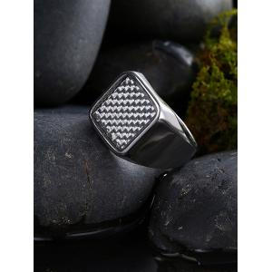 Geometric Antique Finger Ring - SILVER 10