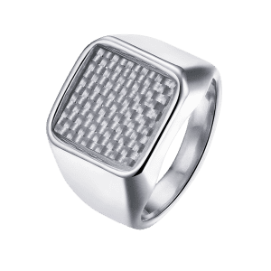 Geometric Antique Finger Ring - SILVER 8