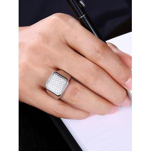 Geometric Antique Finger Ring - SILVER 9
