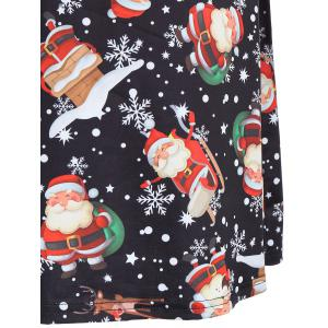 Christmas Snowman Snowflake Printed T Shirt Dress -