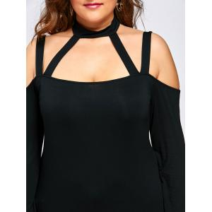 Plus Size Cut Out Halter Neck Top -