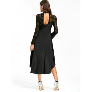 Lace Insert Cut Out Robe basse -