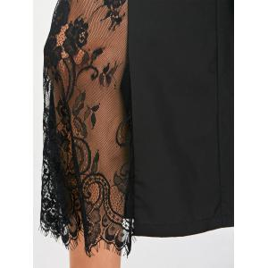 Eyelash Lace Panel Wide Leg Pants -