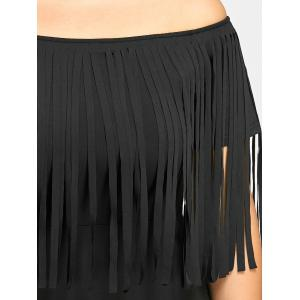 Plus Size Fringed Off The Shoulder Dress -