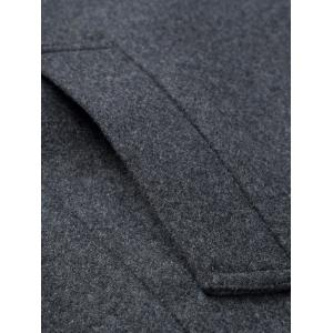Stand Collar Single-breasted Wool Blend Coat -