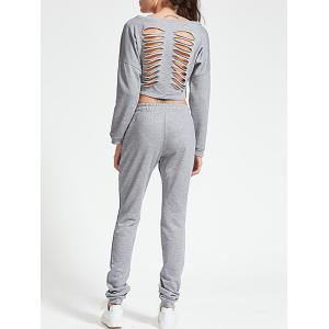 Ripped Sweatshirt with Jogger Pants -