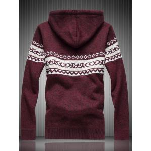 Pull à capuche en tricot Zip Up -
