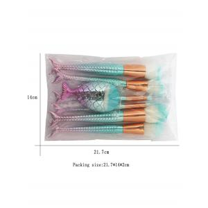 7Pcs Mermaid Ombre Makeup Brush Set -