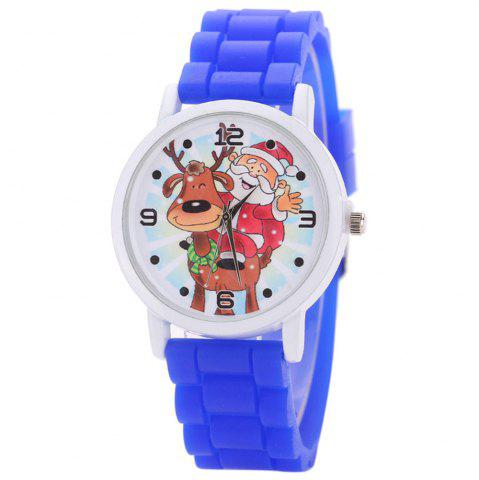 Buy Christmas Deer Santa Face Silicone Strap Watch