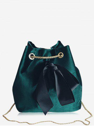 Trendy Chain Bowknot Bucket Crossbody Bag