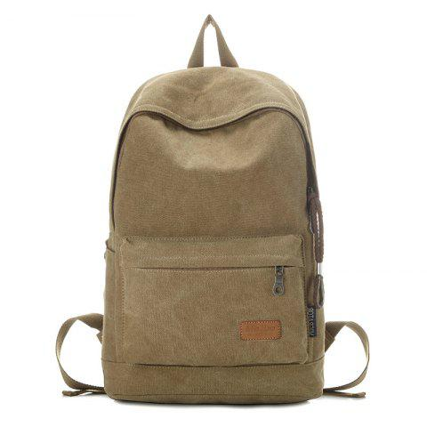Outfit Stitching Solid Color School Backpack