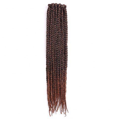 Outfits Long Three-strand Box Braids Synthetic Hair Weave - BROWN  Mobile