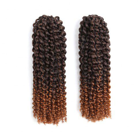 Outfit 2Pcs Short Mali Bob Twisted Crochet Braids Synthetic Hair Weaves DARK BROWN OMBRE
