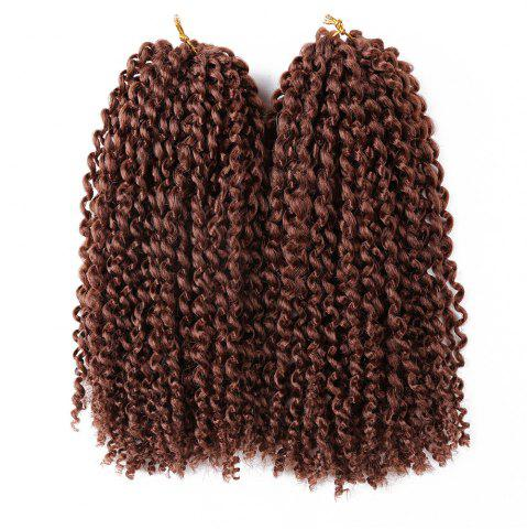 Trendy 2Pcs Short Mali Bob Twisted Crochet Braids Synthetic Hair Weaves