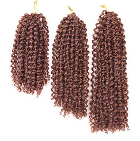 3Pcs Short Afro Kinky Curly Mali Bob Twist Braids Cheveux Synthétiques Tisser