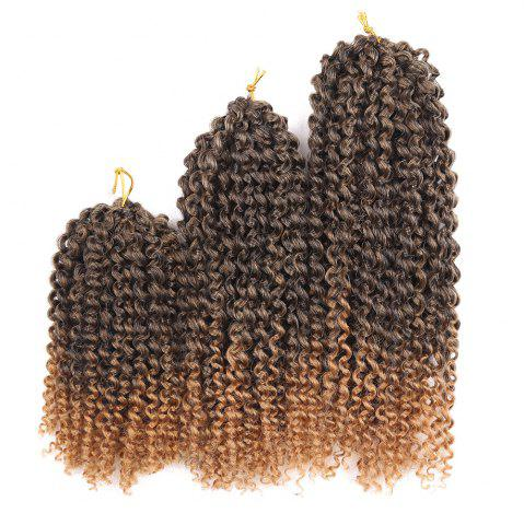 Unique 3Pcs Short Afro Kinky Curly Mali Bob Twist Braids Synthetic Hair Weaves