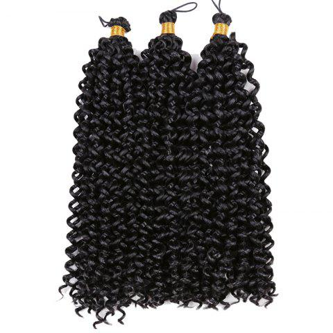 Fashion Medium Fluffy Pre Twisted Flashy Curl Synthetic Braids Hair Weave BLACK
