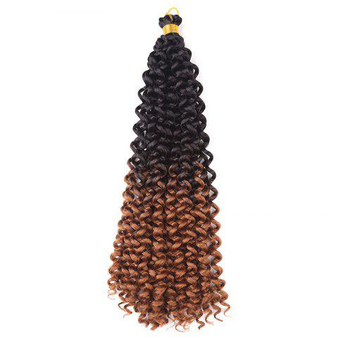 Cheap Medium Fluffy Pre Twisted Flashy Curl Synthetic Braids Hair Weave - DEEP BROWN  Mobile