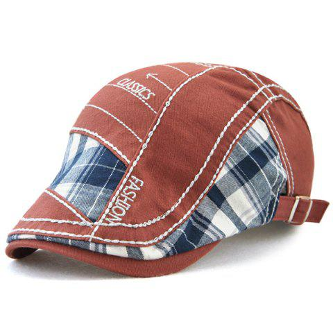 Best Retro Patchwork Pattern Embroidery Newsboy Hat