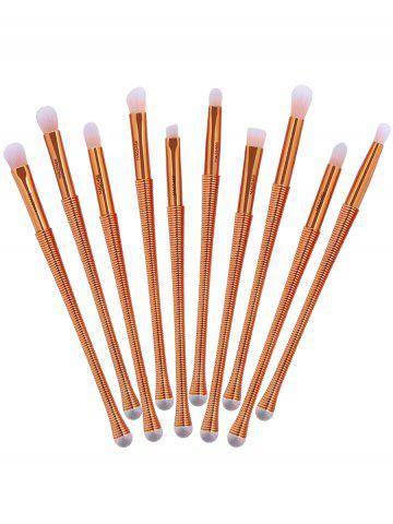 Affordable 10Pcs Slim Handle Eyeshadow Brush Suit - PINK  Mobile