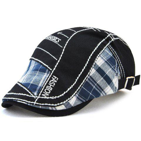 Trendy Retro Patchwork Pattern Embroidery Newsboy Hat